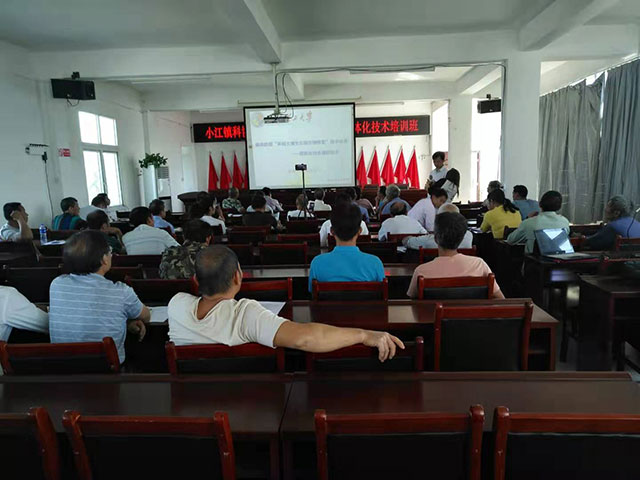 小江镇脐橙产业高质量发展暨脐橙标准化生态示范园建设培训班